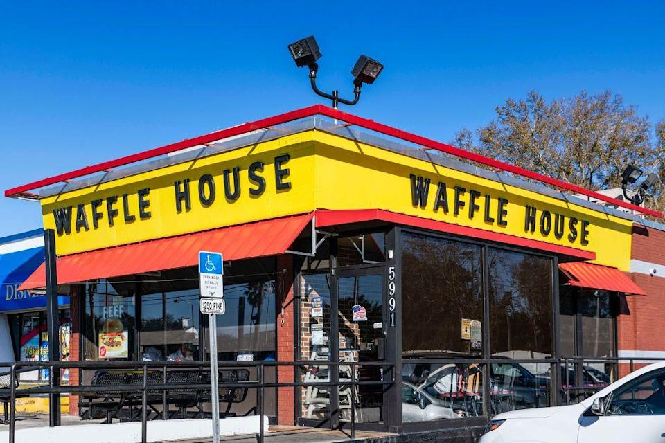 """<p>Waffles? On Thanksgiving? It may sound too good to be true, but that's exactly what Waffle House will be serving up. The chain is open 365 days a year. </p><p><strong><a href=""""https://locations.wafflehouse.com/"""" rel=""""nofollow noopener"""" target=""""_blank"""" data-ylk=""""slk:Find a location"""" class=""""link rapid-noclick-resp"""">Find a location</a>.</strong></p>"""