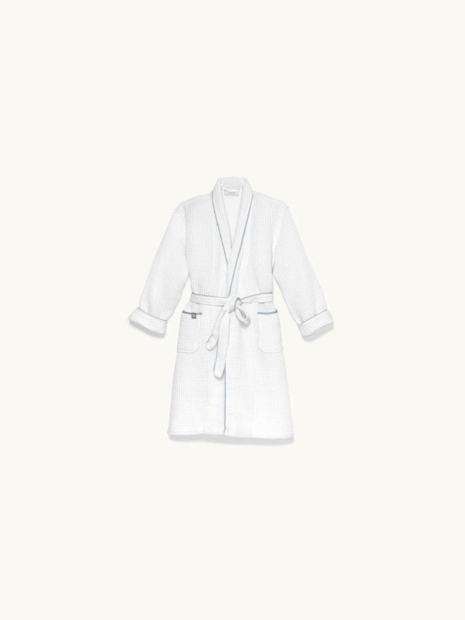 "<h3><a href=""https://www.bollandbranch.com/products/womens-waffle-robe"" rel=""nofollow noopener"" target=""_blank"" data-ylk=""slk:Boll & Branch Waffle Robe"" class=""link rapid-noclick-resp"">Boll & Branch Waffle Robe</a></h3> <br>Described as ""plush"" and ""super-springy,"" this waffle-weave robe is crafted from super absorbent materials that are perfect for swaddling any bod post-shower (or bubble bath).<br><br>One reviewer calls it, ""Superb in every way- yummy soft texture washes beautifully, sized properly. I'm lovin' it!""<br><br><strong>Boll And Branch</strong> Waffle Robe, $, available at <a href=""https://go.skimresources.com/?id=30283X879131&url=https%3A%2F%2Fwww.bollandbranch.com%2Fproducts%2Fwomens-waffle-robe"" rel=""nofollow noopener"" target=""_blank"" data-ylk=""slk:Boll And Branch"" class=""link rapid-noclick-resp"">Boll And Branch</a><br><br><br>"