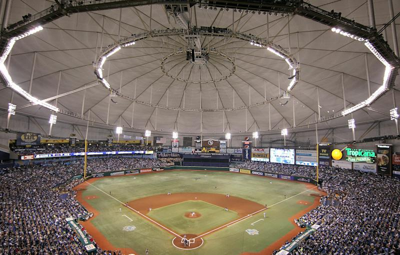 The Rays are hoping to move out of the Tropicana Field and have picked a site to build a new stadium. (Getty Images)