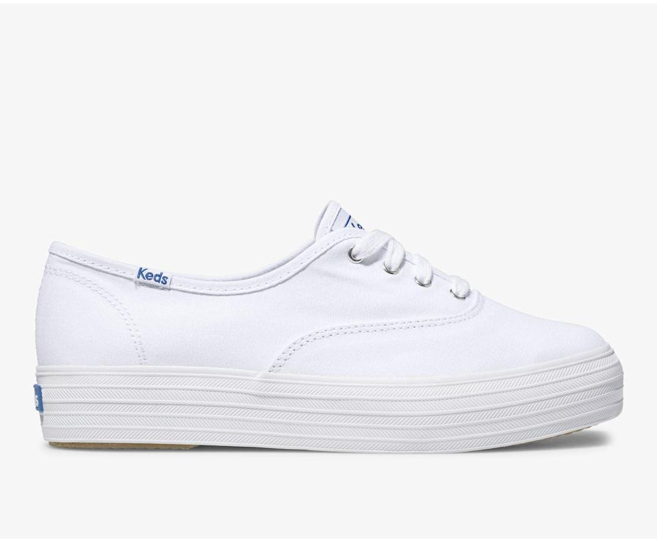 """<p>""""I've been wearing these <span>Keds Triple Sneakers</span> ($55) since I was a kid, and you really can't mess with a classic! I love how versatile they are - equally as cute with a floral midi dress as with jeans and a T-shirt - and the platform helps give me a little boost in the height department. They're also the best sneaker for anyone with narrow feet; a lot of other popular sneaker brands are way too wide for me."""" - Tara Block, content director, Growth and Strategic Features</p>"""