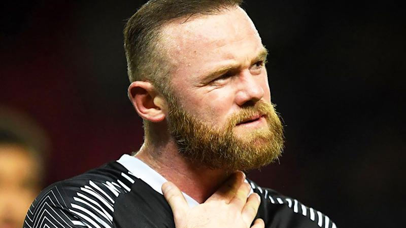 Wayne Rooney, pictured here in action for Derby County.