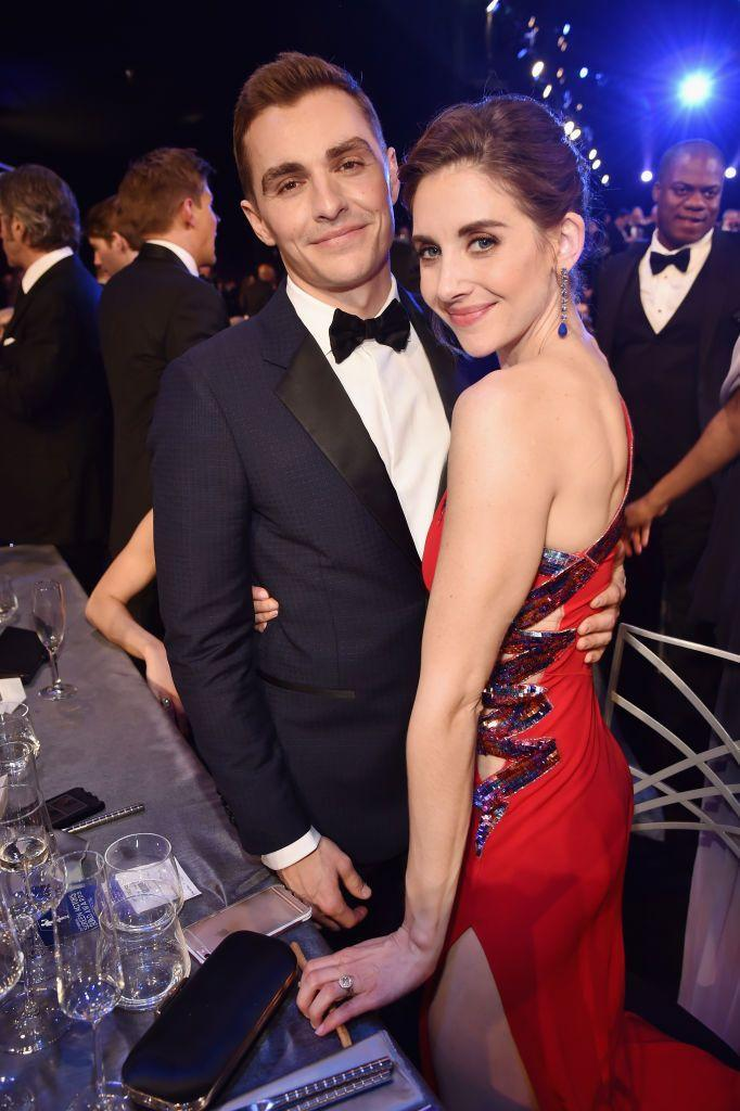 <p>The Bad Neighbours actor and GLOW star were set up by friends at New Orleans' Mardi Gras celebrations in 2011. The couple have been married since 2017.</p>