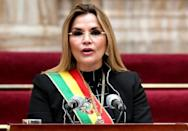 Jeanine Anez, a former senator, took over as caretaker president after Evo Morales left Bolivia in November 2019