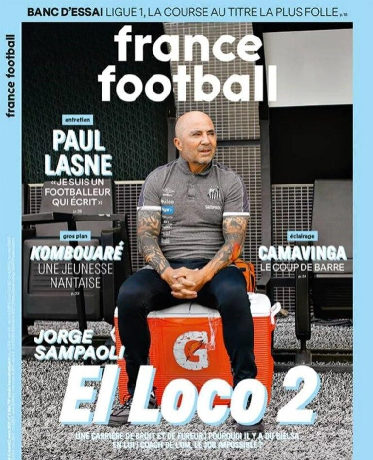 "La tapa de France Football que describe a Sampaoli como ""El Loco 2"""