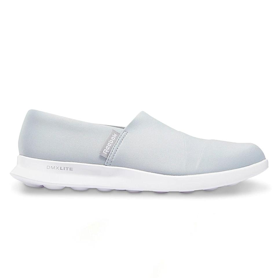 """I've never been a Dansko girl. I can't do heavy, clunky clogs for 13-plus hours. My favorite [nurse shoes] of all time are the Reebok Skyscape Harmony slip-ons, but they no longer make them. They come up on an Amazon search, but they never seem to be in stock. I haven't tried the new version yet [pictured], but I would definitely vouch for them because Reebok makes such comfortable shoes! They're very lightweight and supportive—the kind of shoes that you can wear while on your feet for 14 hours and somehow still be completely comfortable. They're honestly incredible, and I know several other nurses who also owned and wore out their Skyscape Harmony slip-ons. They singlehandedly saved my feet during long shifts. All hail Reebok!"""" —<em>Toria Mirza, RN</em> $49, Amazon. <a href=""""https://www.amazon.com/Reebok-Womens-Stroll-Lite-Walking/dp/B0855KYF2P?"""" rel=""""nofollow noopener"""" target=""""_blank"""" data-ylk=""""slk:Get it now!"""" class=""""link rapid-noclick-resp"""">Get it now!</a>"""