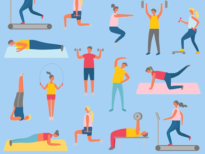 While it's tempting to throw yourself back into exercise, increasing the intensity of your workout can cause severe muscle pain (iStock)
