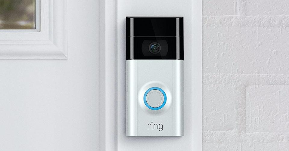 The Ring Video Doorbell 2 gives you ultimate peace of mind at an unbeatable price. (Photo: Amazon)