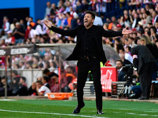 Simeone has suggested that he may not be with Atletico next season (Getty)