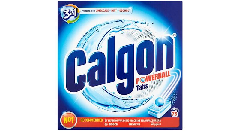 Calgon 3-in-1 washing machine cleaner and water softener