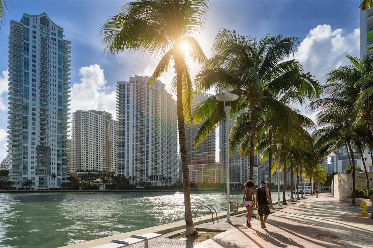 """<p>Surprisingly, Miami's peak season is in December and it starts winding down soon after. Like San Juan, the best times to travel when on a budget are in January and March. Flights can go as low as <a href=""""https://www.cheapflights.com/flights-to-miami/"""" target=""""_blank"""">$87 per person</a>, depending on your location. Tuesday is the most economical day to fly and Friday is the most expensive. Hotels can vary, but a 3-star spot can run around <a href=""""https://www.kayak.com/Miami-Hotels.14305.hotel.ksp"""" target=""""_blank"""">$167 on odd nights</a>. </p>"""