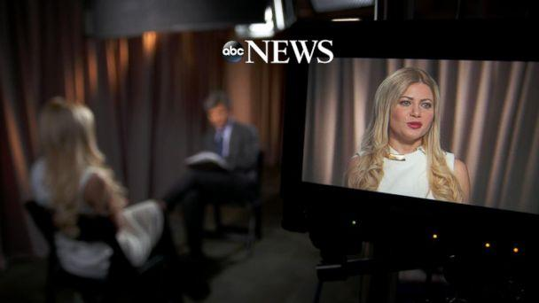 PHOTO: George Papadopoulos' fiancée, Simona Mangiante speaks with ABC News chief anchor George Stephanopoulos in an exclusive interview. (ABC News)