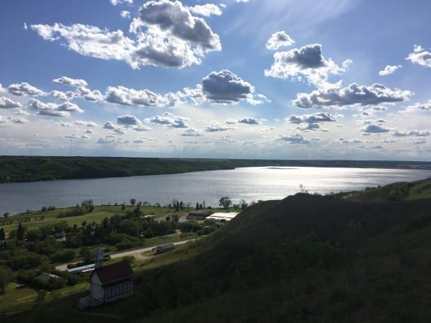 The view from the top of the hill where the Station of the Crosses is located in Lebret.