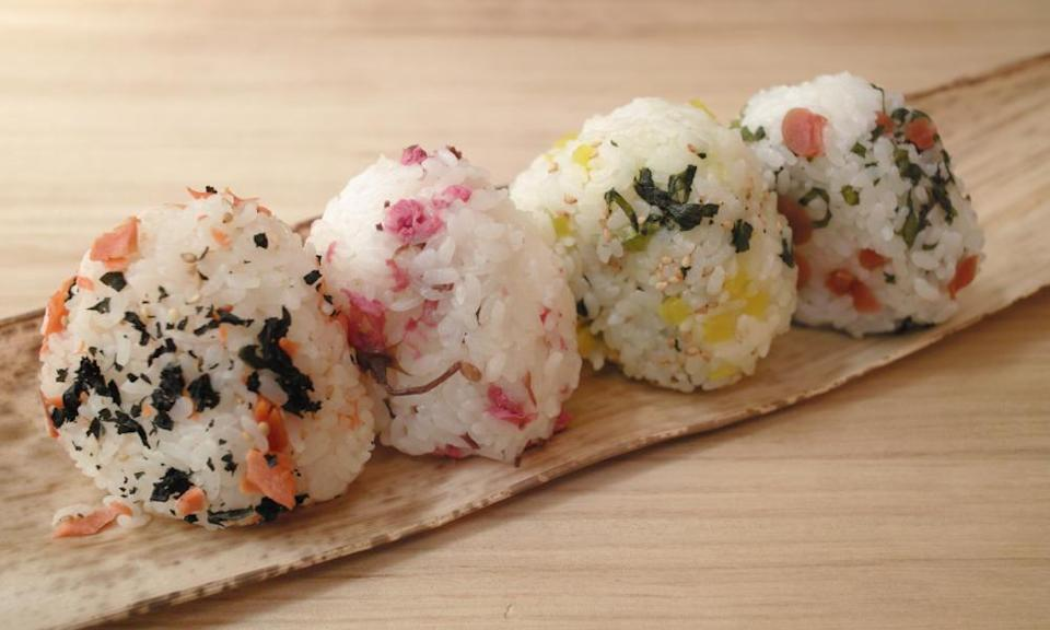 Rice and simple ... onigiri.