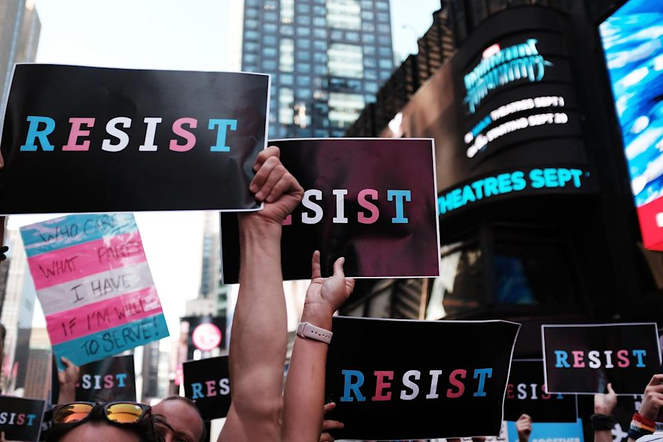 Donald Trump's ban on transgender troops sparked outcry (Getty Images)