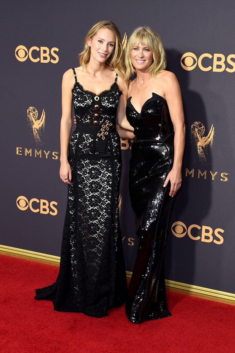 Robin Wright and Her Daughter Twinned It Up On the Emmys Red Carpet