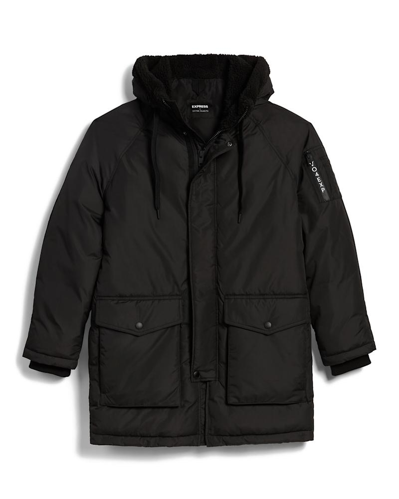 Express x VO Sherpa Hooded Parka