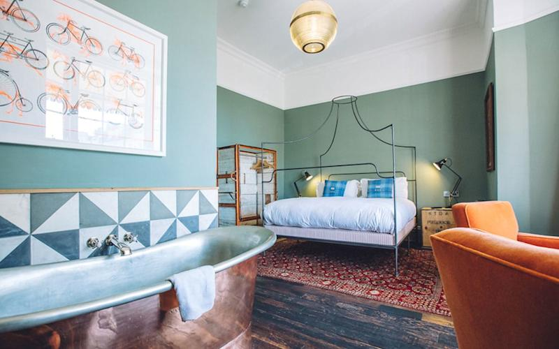 The look is cool private club meets East Village boho at Artist Residence in Brighton