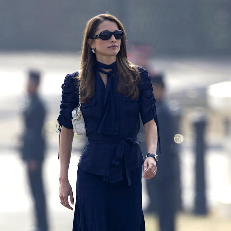 ab52710ebd7 Queen Rania of Jordan Is Keeping It Chic All Summer