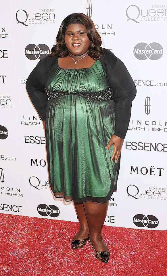 "Best Actress Oscar nominee Gabourey Sidibe paired her green dress with a pair of funky leopard flats. According to <a href=""http://www.essence.com/entertainment/red_carpet/black_women_in_hollywood_2010.php"" target=""new"">Essence.com,</a> when presented with her Best Breakthrough Performance award, the Hollywood newcomer ""spoke of the joys of being embraced in a town where she never thought she'd be accepted."" Jeffrey Mayer/<a href=""http://www.wireimage.com"" target=""new"">WireImage.com</a> - March 4, 2010"