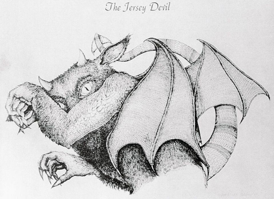 """<p>Perhaps the most famous urban legend to grace the New Jersey planes is that of the Jersey Devil. The mythical winged beast has terrorized residents for centuries, with <a href=""""https://www.nj.com/entertainment/2016/10/13_places_the_jersey_devil_has_been_spotted_in_the.html"""" rel=""""nofollow noopener"""" target=""""_blank"""" data-ylk=""""slk:sightings of the creature"""" class=""""link rapid-noclick-resp"""">sightings of the creature</a> tracing back to 1735.</p>"""