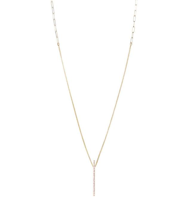 "<p>Selin Kent nico necklace, $1,450, <a href=""https://www.loveadorned.com/contemporary-jewelry/necklaces/selin-kent-14k-yellow-gold-nico-necklace-white-diamonds"" rel=""nofollow noopener"" target=""_blank"" data-ylk=""slk:loveadorned.com"" class=""link rapid-noclick-resp"">loveadorned.com</a> </p>"