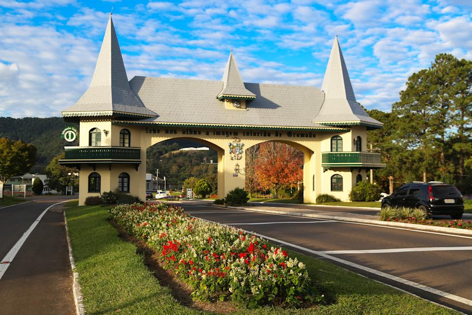 The gateway of Gramado,  shows the Norman style architecture. It is a homage to the German colonization.