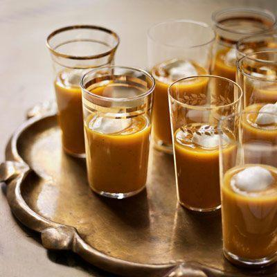 """<p>A dollop of sour cream balances the slight spice from curry powder in this cozy Thanksgiving soup.</p><p><em><a href=""""https://www.countryliving.com/food-drinks/recipes/a3262/roasted-winter-squash-soup-recipe/"""" rel=""""nofollow noopener"""" target=""""_blank"""" data-ylk=""""slk:Get the recipe from Country Living »"""" class=""""link rapid-noclick-resp"""">Get the recipe from Country Living »</a></em></p>"""