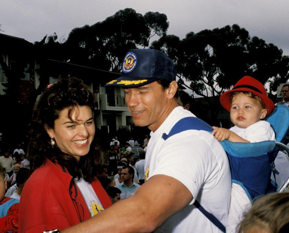 Maria Shriver, Arnold Schwarzenegger and daughter Katherine (Photo by Ron Galella/Ron Galella Collection via Getty Images)