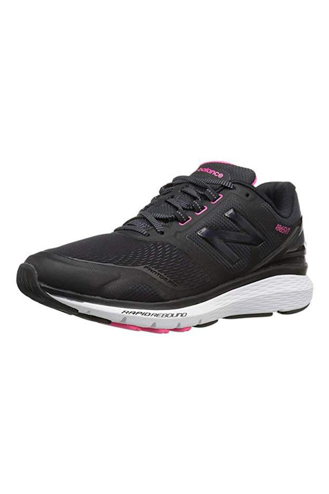 """<p>$78</p><p><a rel=""""nofollow"""" href=""""https://www.amazon.com/New-Balance-Womens-WW1865-Walking/dp/B01HCML28W"""">SHOP NOW</a><br></p><p>Dr. Sutera says this sneaker's """"Rapid Rebound"""" technology, combined with its extra-cushioned midsole and forefront support, offers the stability you need in a comfortable walking shoe. It's also designed with synthetic material, which she says makes it durable for long-term use. </p>"""