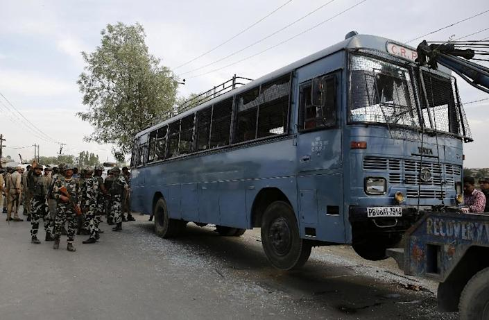 Saturday's attack came after seven suspected rebels were killed in three separate gunbattles with government forces earlier this week in the north of the territory, according to the Indian army (AFP Photo/)