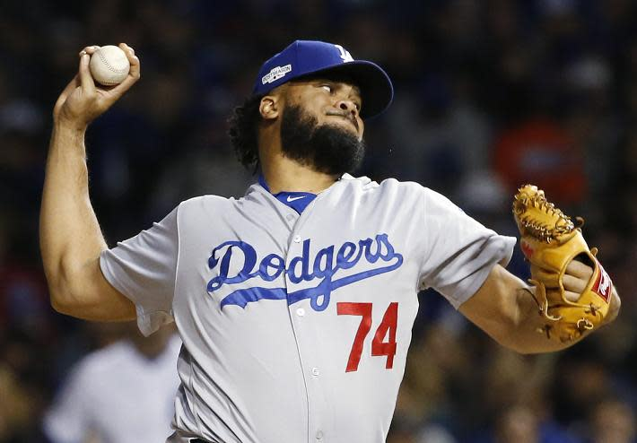 Count the Marlins among those pursuing free-agent closer Kenley Jansen. (AP)