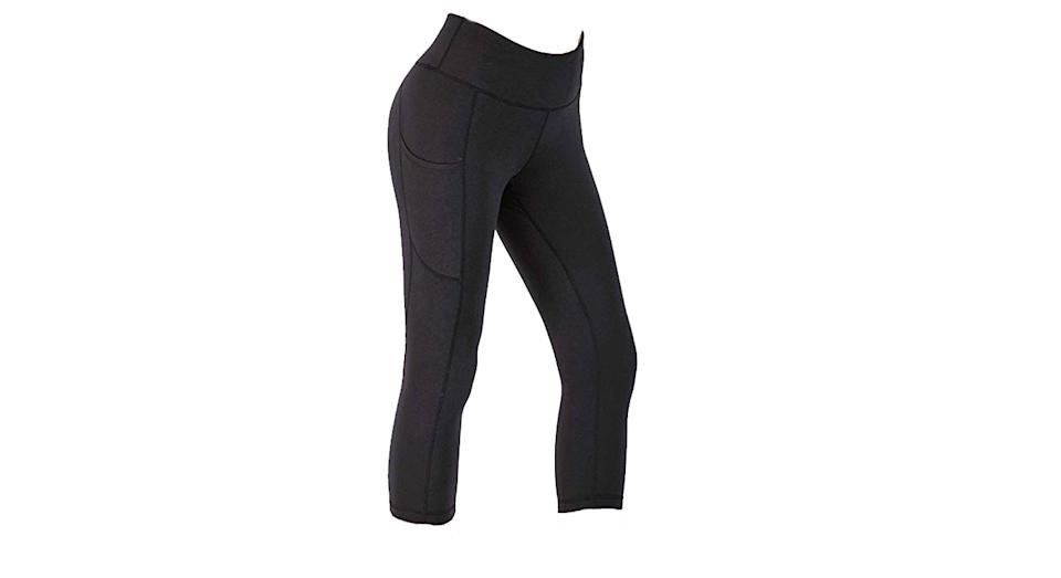 IUGA Cropped Yoga Pants with Pockets and Tummy Control