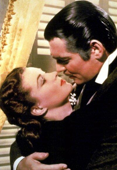 """<p>""""You need kissing badly,"""" Clark Gable, as Rhett Butler, told Vivien Leigh's Scarlett O'Hara in this 1939 epic. """"You should be kissed, and often. And by someone who knows how."""" Later on, while proposing to the twice-widowed Scarlett, he proves he's the man for the job.</p>"""