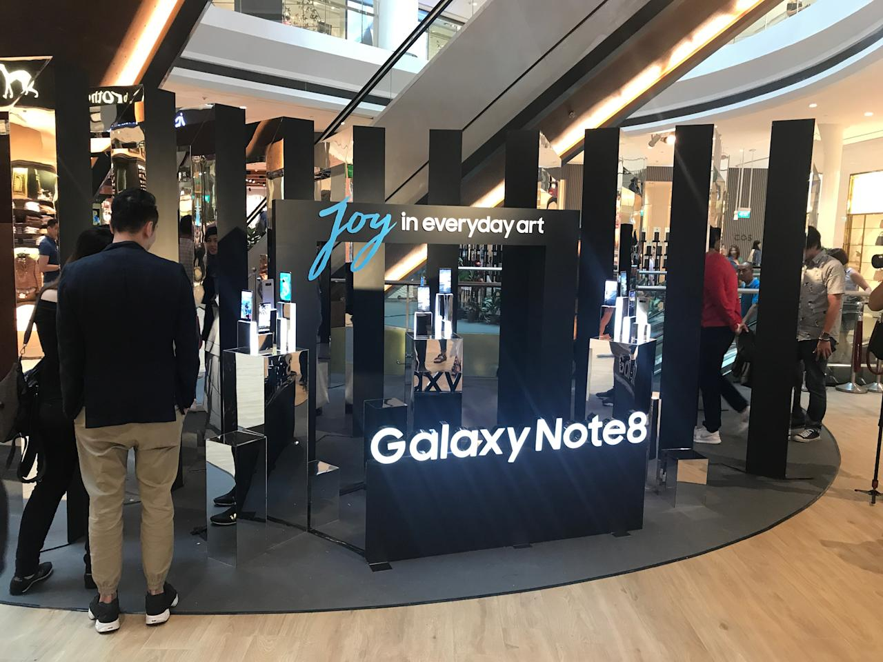 <p>Samsung digital art exhibition – Joy in everyday art. (Photo: Yahoo Lifestyle Singapore) </p>