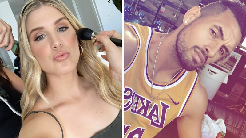 A 50-50 split images shows Eugenie Bouchard on the left and Nick Kyrgios on the right.