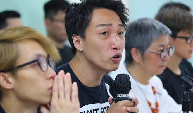 Civil Human Rights Front convenor Jimmy Sham at a press meet. Photo: Edmond So
