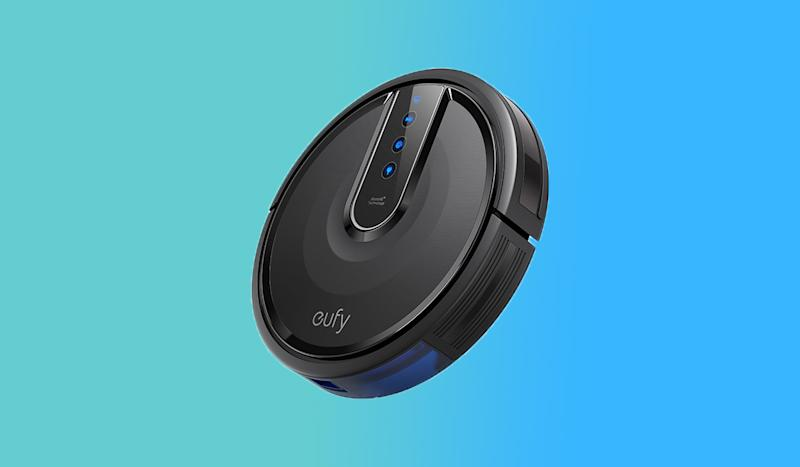 The Eufy can vacuum for up to 100 minutes and it's no louder than your microwave. (Photo: Walmart)