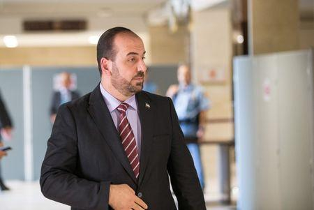 Syria's main opposition HNC leader Nasr al-Hariri in Geneva arrives for a new round of negotiation with UN Special Envoy of the Secretary-General for Syria Staffan de Mistura in Geneva