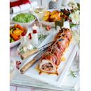 """<p>A great easy recipe for serving turkey at your Christmas table. Rolling the turkey is simpler than you think. </p><p><strong>Recipe: <a href=""""https://www.goodhousekeeping.com/uk/christmas/christmas-recipes/a558326/turkey-breast-roll-with-mincemeat-stuffing/"""" rel=""""nofollow noopener"""" target=""""_blank"""" data-ylk=""""slk:Turkey breast roll with mincemeat stuffing"""" class=""""link rapid-noclick-resp"""">Turkey breast roll with mincemeat stuffing</a></strong></p>"""