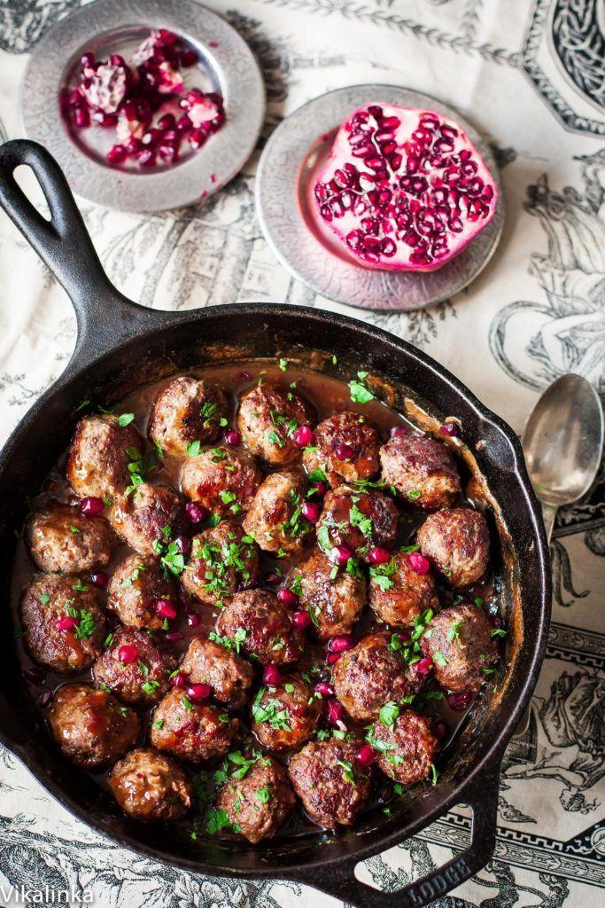"""<p>These flirty meatballs are getting pretty in pink for you.</p><p><em><a href=""""http://vikalinka.com/2015/01/11/spicy-meatballs-in-pomegranate-sauce/"""" rel=""""nofollow noopener"""" target=""""_blank"""" data-ylk=""""slk:Get the recipe from Vikalinka »"""" class=""""link rapid-noclick-resp""""><span class=""""redactor-invisible-space"""">Get the recipe from Vikalinka »</span> </a></em></p>"""