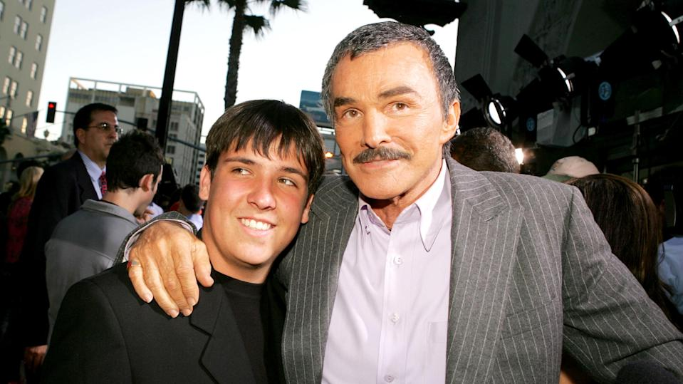 Burt Reynolds and his son, Quinton, at the premiere of Paramount Pictures' <em>The Longest Yard</em> in 2005 in Los Angeles. (Photo: Kevin Winter/Getty Images)