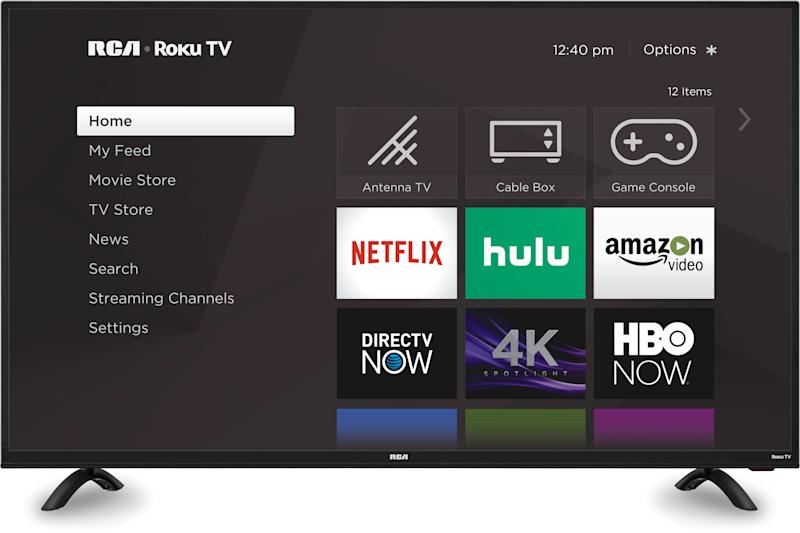 This 4K TV has a 4.1 out of five-star review rating. (Photo: Walmart)