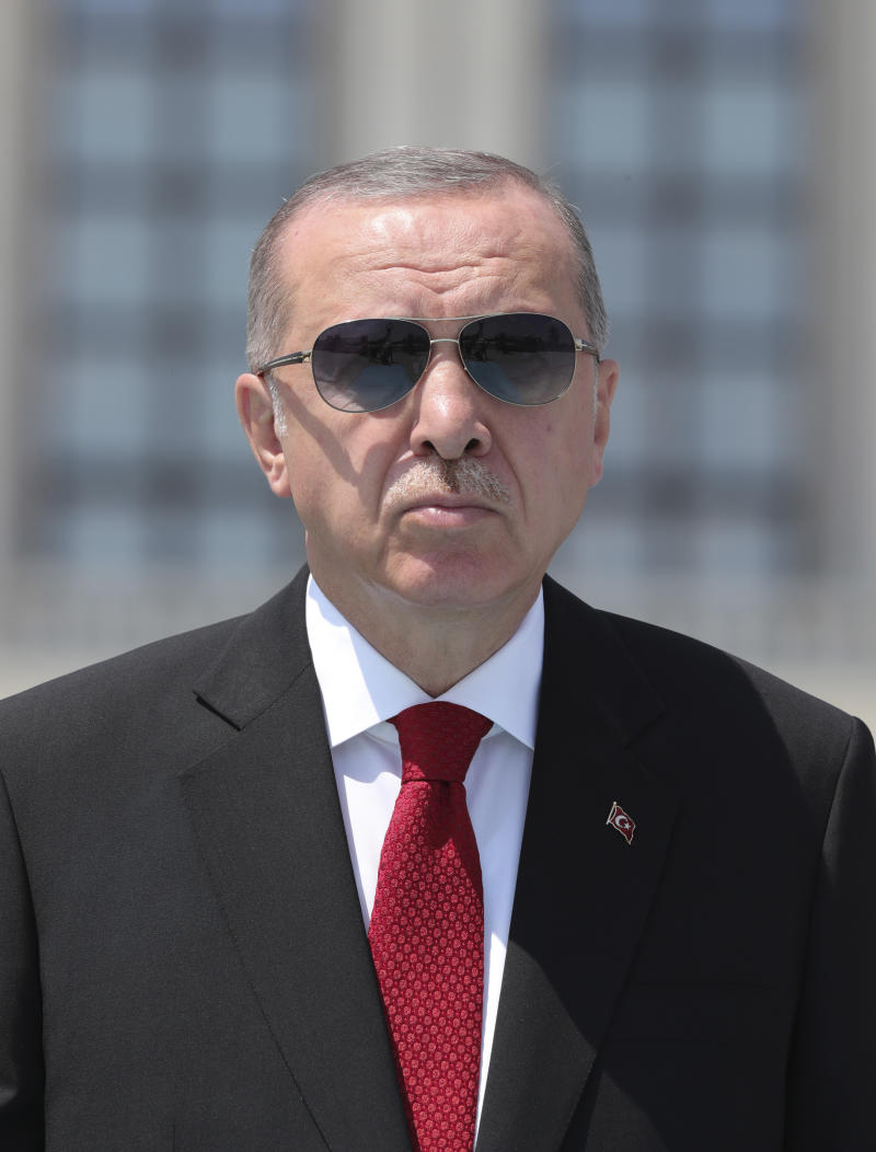 Il presidente turco Tayyip Erdogan (Turkish Presidency via AP, Pool)