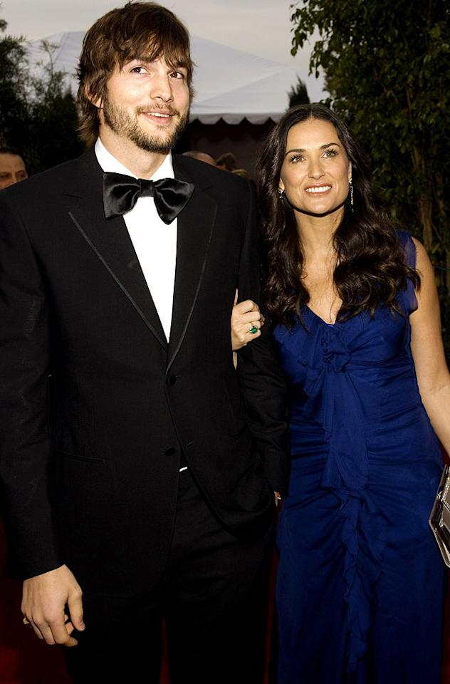 """They said their May-December romance wouldn't last, but Ashton Kutcher and Demi Moore prove that age is just a number. John Sciulli/<a href=""""http://www.wireimage.com"""" target=""""new"""">WireImage.com</a> - January 28, 2007"""
