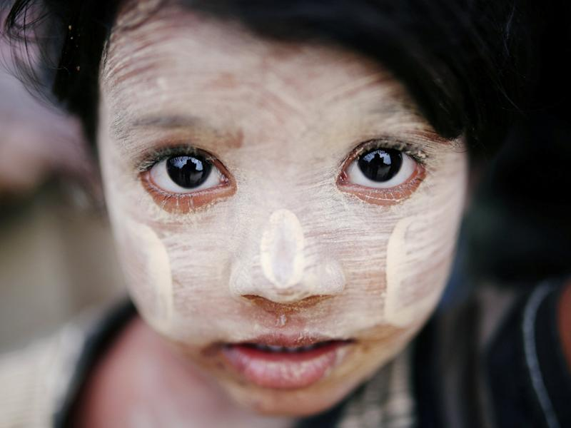 While the paste is used medicinally in some parts of the world, in Myanmar it is also used as a cosmetic: Photos Reuters