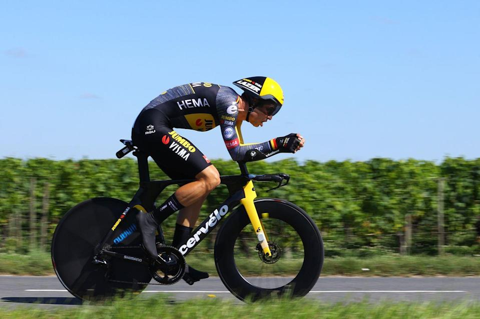 """<p><strong>Who's Winning the Tour?</strong></p><p>Wout van Aert of Jumbo-Visma showed again that he's the most versatile rider in the pro peloton with a convincing win in the final time trial over Deceuninck-Quick Step's Kasper Asgreen. As expected, Tadej Pogačar (UAE-Emirates) had zero trouble defending his comfortable lead, taking it (relatively) easy and conceding almost no time to his rivals. </p><p>Jumbo-Visma's Jonas Vingegaard ably held off Richard Carapaz (Ineos) for the second podium spot; Vingegaard finished third on the day, adding over a minute and half to his cushion. Second overall is a huge result for Vingegaard, who is just 24 years old and came to the Tour to support team leader Primoz Roglič, who had to drop out due to crash injuries. There were no changes to the top 10 overall. </p><p><strong>Who's Really Winning the Tour?</strong></p><p>Pogačar will also enter Paris on Sunday as the leader in the KOM and Best Young Rider competitions. It's the second year he's taken all three classifications, a feat no rider has accomplished (Eddy Merckx swept the yellow, green and polka-dot jersey standings in his first Tour, in 1969, and would have been the Best Young Rider as well; the classification didn't start until 1975).</p><p>All of that has led to questions about whether we're at the dawn of the """"Pogaczar"""" era, when he will dominate the Tour for the next many editions. He swatted those suggestions away, saying that there are a number of current young pros and riders who will enter the ranks in the next few years who will challenge him, but it's a worthwhile question: who can beat him? Right now, there's no easy answer.</p>"""