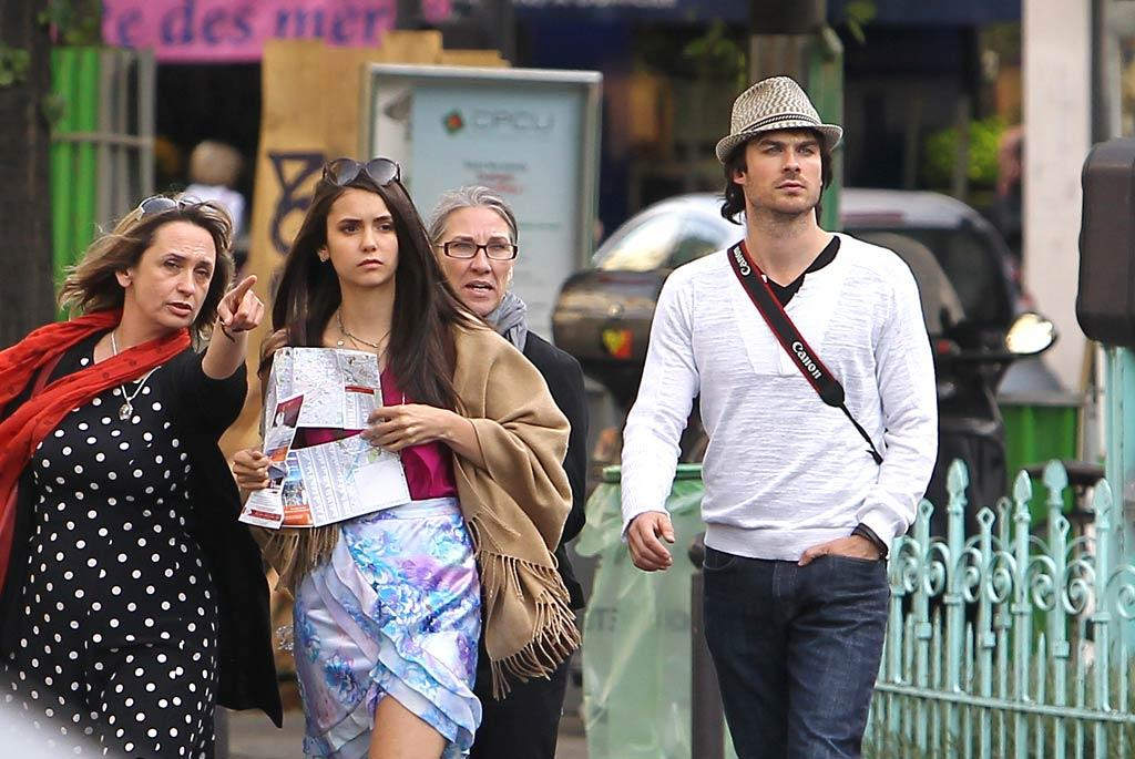 """Along for the ride with the sexy stars? Ian and Nina's mothers, who also played tourists in the City of Light. KCSPresse/<a href=""""http://www.splashnewsonline.com"""" target=""""new"""">Splash News</a> - May 24, 2011"""