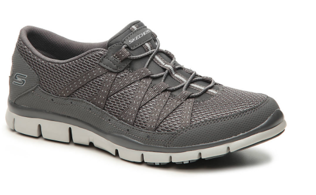 Mesh and fabric adorn this pair. (Photo: DSW)