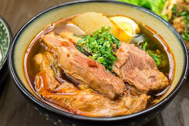 A bowl of Braised Mutton Noodles