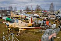 Most of the planes date from the Cold War era and include a MiG-21 fighter, an Mi-6 helicopter gunship and a Tupolev Tu-22M1 training plane